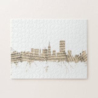 Cityscape van de Muziek van het Blad van de Puzzel