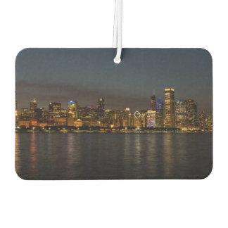 Cityscape van de Nacht van Chicago Auto Luchtverfrissers