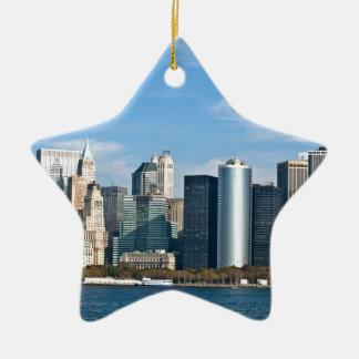 Cityscape van de V.S.: De Horizon van New York #1 Keramisch Ster Ornament