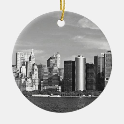 Cityscape van de V.S.: De Horizon van New York #2  Kerstboom Ornamenten