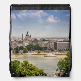 Cityscape van de Zomer van Boedapest, Hongarije de Trekkoord Rugzakje