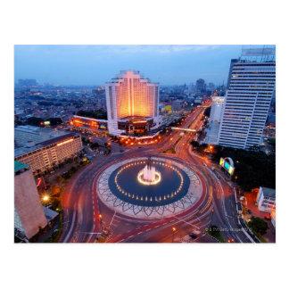 Cityscape van Djakarta Briefkaart