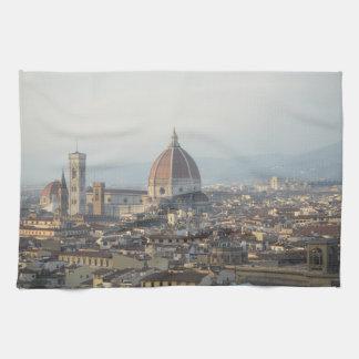 Cityscape van Florence Italië Theedoek
