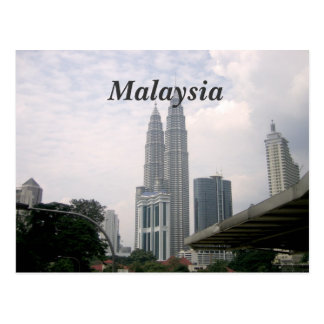 Cityscape van Maleisië Briefkaart