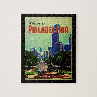 Cityscape van Philadelphia Legpuzzel