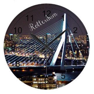 Cityscape van Rotterdam Grote Klok