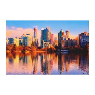 Cityscape van Vancouver Canvas Print