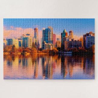 Cityscape van Vancouver Puzzel