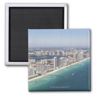 Cityscape zoals die van lucht, Miami, Florida word Vierkante Magneet