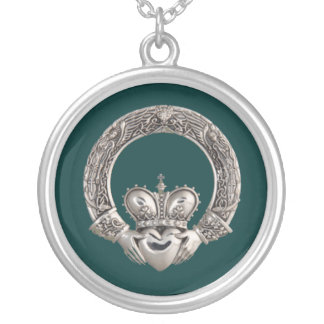 Claddagh Ketting Rond Hangertje