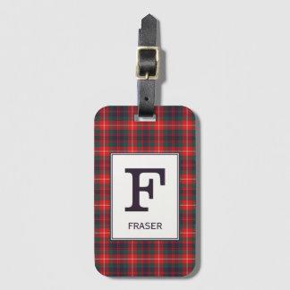 Clan Fraser van Geruite Schotse wollen stof Lovat Kofferlabel