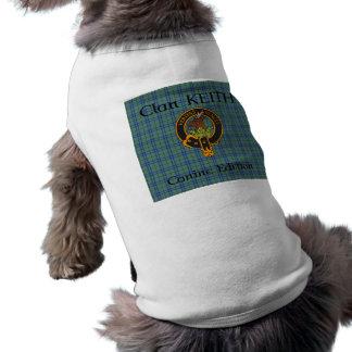 Clan Keith Crest en de T-shirt van de Hond van het Mouwloos Hondenshirt