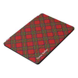 Clan Stewart Tartan & Naam Met monogram iPad Pro Hoesje