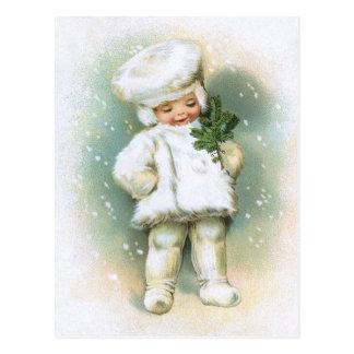 Clapsaddle: De Jongen van de winter met het Takje Briefkaart