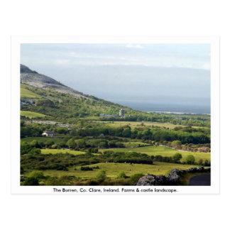 Clare, Ierland, boerderijen & gebieden in Briefkaart