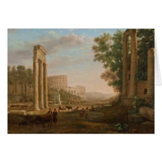 Claude Lorrain - Ruïnes van het Roman forum Kaart