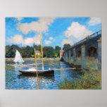 Claude Monet: De brug in Argenteuil Afdruk