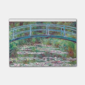 Claude Monet de Japanse Voetgangersbrug Post-it® Notes
