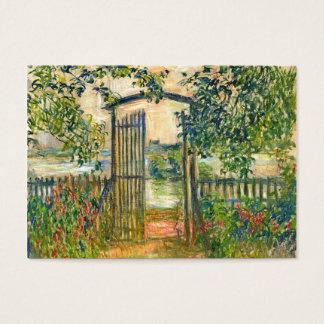 Claude Monet: De poort van de Tuin in Vetheuil Visitekaartjes