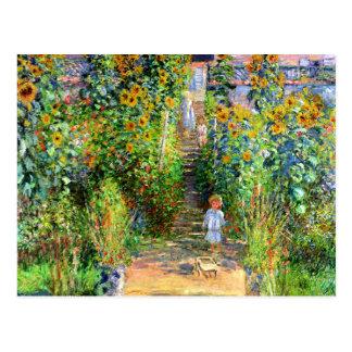 Claude Monet: De Tuin van Monet in Vétheuil Briefkaart