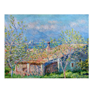 Claude Monet: De tuinlieden huisvesten in Antibes Briefkaart