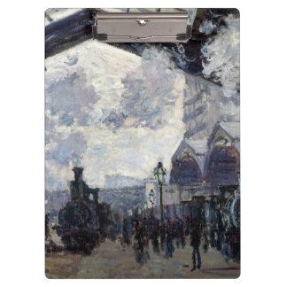 CLAUDE MONET - Gare st-Lazare 1877 Klembord