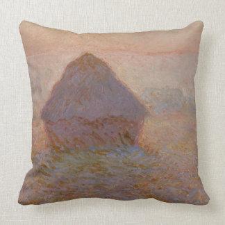 Claude Monet   Grainstack, Zon in de Mist Sierkussen