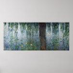 Claude Monet   het Huilen Waterlilies verlaten Poster