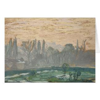 Claude Monet - het Landschap van de Winter met de Briefkaarten 0