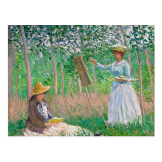 Claude Monet - in het Bos in Giverny Briefkaart