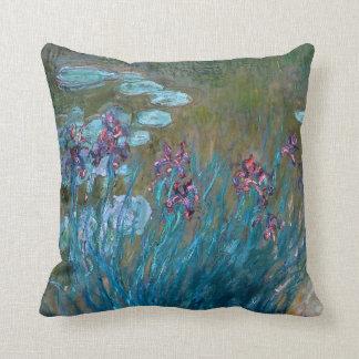 Claude Monet: Irissen en Waterlelies Sierkussen