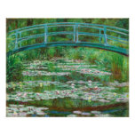 Claude Monet: Japanse Voetgangersbrug Afdruk