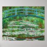 Claude Monet: Japanse Voetgangersbrug Poster
