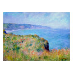 Claude Monet: Klip dichtbij Pourville Poster