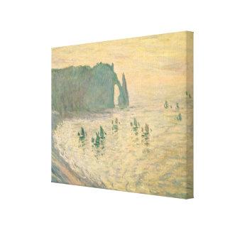 Claude Monet | Klippen in Etretat, 1886 Canvas Afdruk