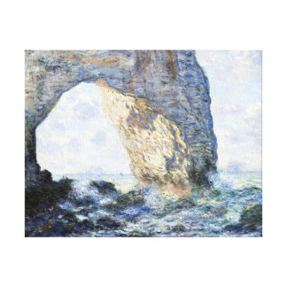 Claude Monet Manneporte (Étretat) Canvas Afdruk