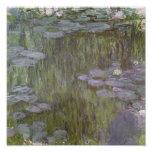 Claude Monet | Nympheas in Giverny, 1918 Poster