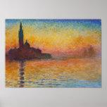Claude Monet - San Giorgio Maggiore bij Schemer Poster