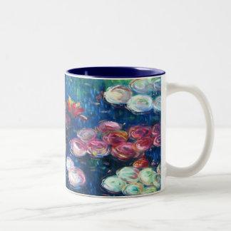 Claude Monet: Waterlelies 3 Tweekleurige Koffiemok