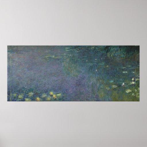 Claude Monet   Waterlilies: Ochtend, 1914-18 Poster