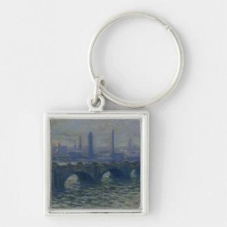 Claude Monet   Waterloo Brug, 1902 Zilverkleurige Vierkante Sleutelhanger