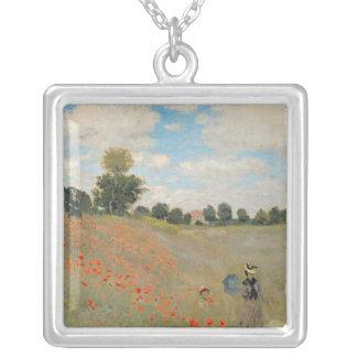 Claude Monet | Wilde Papavers, dichtbij Argenteuil Zilver Vergulden Ketting
