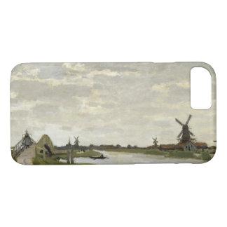 Claude Monet - Windmolens dichtbij Zaandam iPhone 8/7 Hoesje