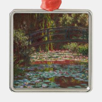 Claude Monet Zilverkleurig Vierkant Ornament
