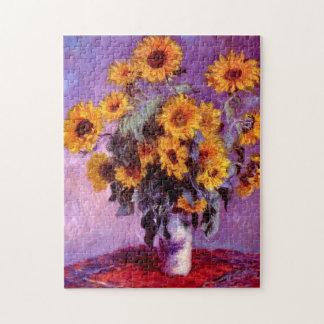 Claude Monet: Zonnebloemen Legpuzzel