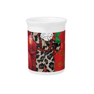 Claus van de santa Afrikaans luipaard rood Drink Pitcher