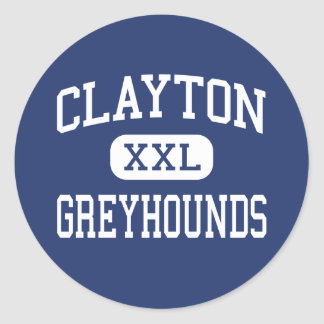 Clayton - Hoge Windhonden - - Clayton Missouri Ronde Stickers
