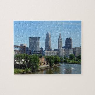 Cleveland, Ohio die op het Raadsel van de Rivier Legpuzzel