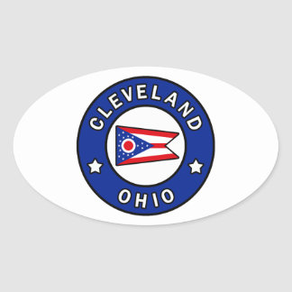 Cleveland Ohio Ovale Sticker