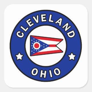Cleveland Ohio Vierkante Sticker